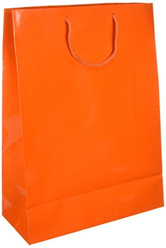 Party Friendly Extra Large Glossy Gift Bag , Orange Peel, Paper , 16