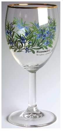 Royal Worcester Herbs Set of Four Wine ()