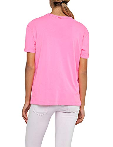 T Rose Pink Taille Femme Replay Fluo Unique shirt dqxvdC