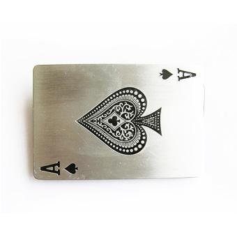 Ace Spades Card Pewter Belt Buckle - Spade Buckle