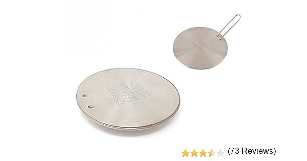 Ilsa - Placa adaptadora universal para inducción (redonda, con mango), acero inoxidable, 12 cm: Amazon.es: Hogar