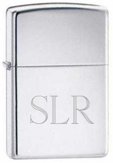 Favors Zippo (Groomsman Personalizied Zippo Chrome Silver Pocket Lighter Free Engraving)