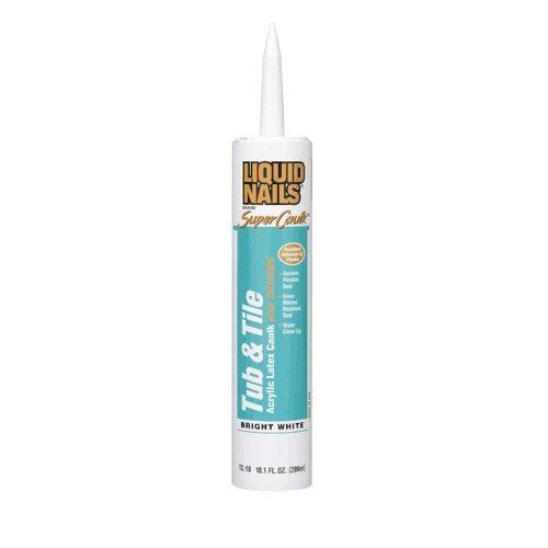 LIQUID NAILS TC-10 Tub and Tile Acrylic Latex Caulk (10.1-Ounce)