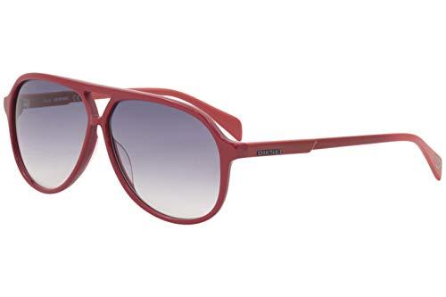 Diesel Women's DL0156 DL/0156 66B Red Fashion Pilot Sunglasses - Sunglasses Red Diesel