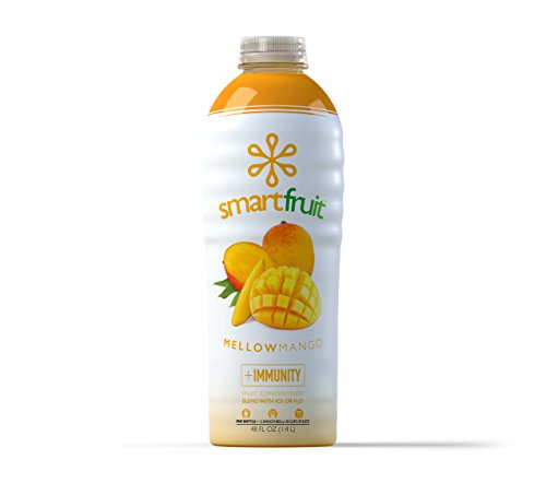 Smartfruit Mellow Mango, All Natural 100% Fruit Smoothie Mix, No Added Sugar, Non-GMO, No Additives, Vegan, 48 Fl. Oz (Pack of 1)