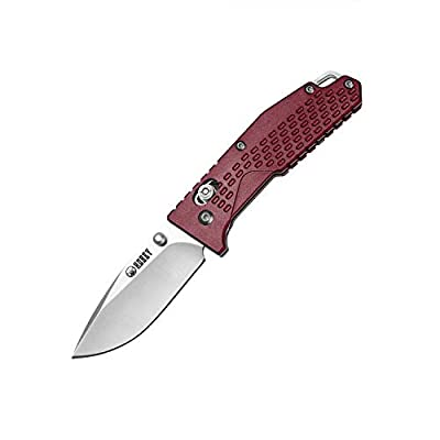 KUBEY KU095 Cutlery 6.2in EDC Folding Pocket Knife with 2.6in Drop Point 8Cr14Mov Steel Blade and Aluminum Handle for Outdoor Hiking and Everyday Carry