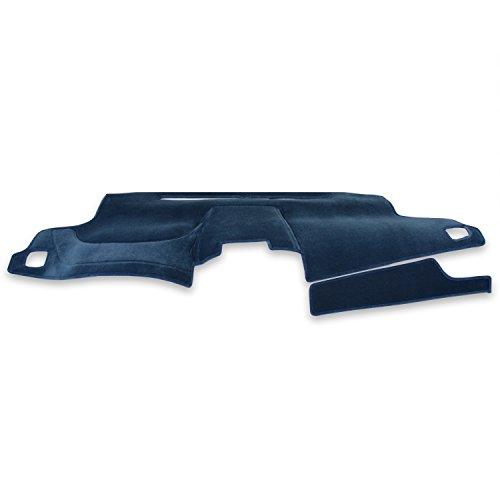 Coverking Custom Fit Dashcovers for Select Chevrolet S10 Models - Velour (Medium Blue) Chevrolet S10 Dash Cover