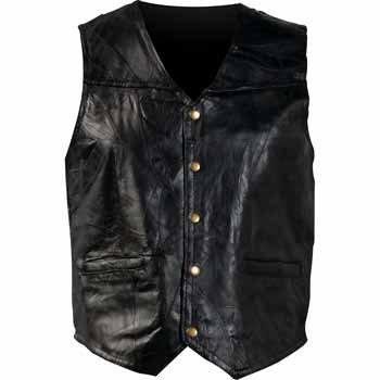 Giovanni Navarre Mosaic Leather Vest Black, Black, 3XL