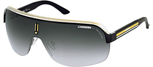 Carrera Topcar 1  Unisex Shield Sunglasses,Black Crystal Yellow Frame/Gray Gradient Lens,one - Sunglasses Carrera