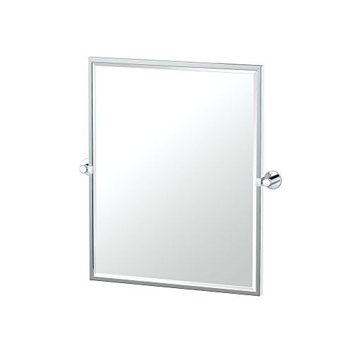 Gatco 4689FSM Channel Chrome Framed Small Rectangle Mirror, 25