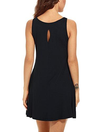 Dress Pockets Sleeveless Women's Black Casual T Dresses Shirt Unbranded Swing U7E4nq7x