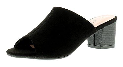 Nuevo Mujer Negro Comfort Plus dothan miule Sandalias - Negro - GB Tallas 3-8