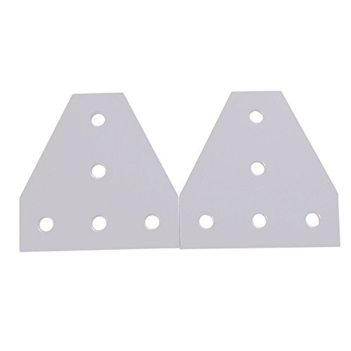 Mergorun,3D Printer Aluminum T Shaped 5 Hole 90x90x4mm Joining Plate for 3030 v-slot/T-slot Aluminum Extrusion Pack of 10 by Mergorun (Image #4)