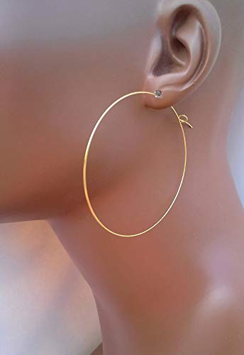 4843fa591 Image Unavailable. Image not available for. Color: 2.5 inch Gold Hoop  Earrings ...