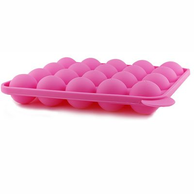 Minchsrin Silicone Cake Mold Lollypop Cupcake Baking Mold Cake Pop Stick Mold Tray Pink with 40 Sticks (Cake Pop Molds)