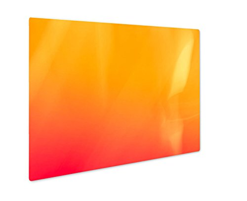 (Ashley Giclee Metal Panel Print, Defocused Orange Gradient Flame D Wallpaper Natural Vivid Backdrop For Painting, Wall Art Decor, Floating Frame, Ready to Hang 8x10, AG6574291)