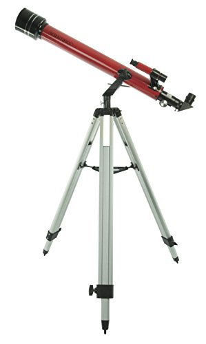 Scientifics 60mm Refractor Telescope, Red by Scientifics Direct