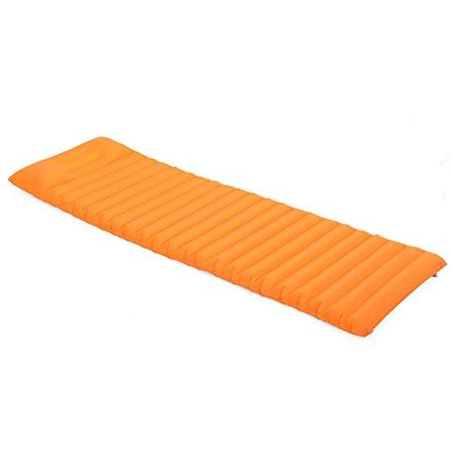 R&R Ultralight Outdoor Inflatable Sleeping Pad with Head Pillow, Portable Moistureproof Comfortable Sleeping Air Mattress , orange by POTA