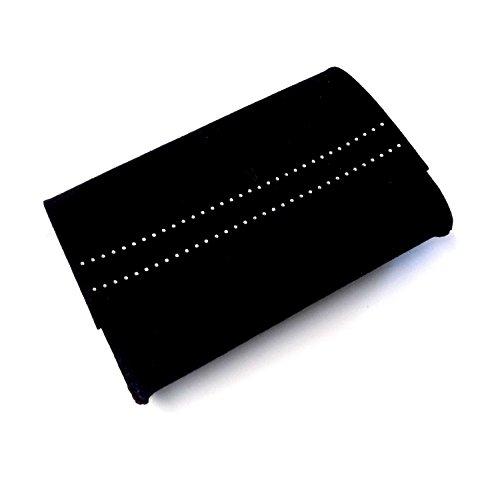 Tasche Filztasche Clutch Mappe schwarz 100% Merino Filz Innenfutter - Swarovski Elements OG1xV