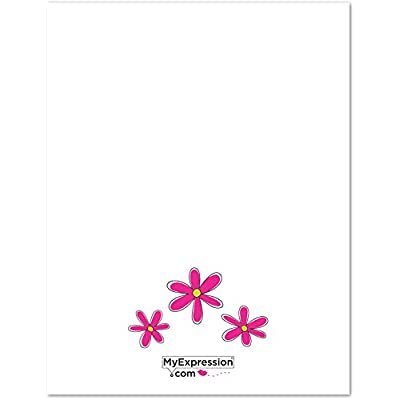 MyExpression.com 20 Peace and Flower Kids Fill-in Birthday Thank You Cards: Toys & Games