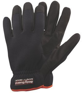 L Series 300 Black Synthetic Leather/Spandex Body GuardUnlined General Purpose Work Glove Pair by Body Guard