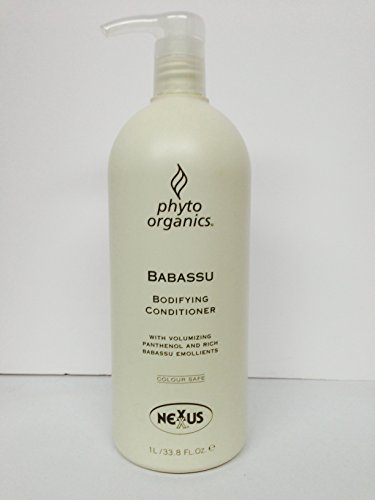 Nexxus Phyto Organics Babassu Bodifying Conditioner with Volumizing Panthenol and Rich Babassu Emollients 33.8 Oz (Nexxus Volumizing Conditioner)