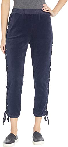 Juicy Couture Women's Track Velour Pants with Lacing Regal Medium 25 ()