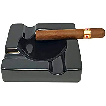 F.e.s.s Outdoor Desktop Use Indoor Melamine 2 Cigar Rest Ashtray for Patio