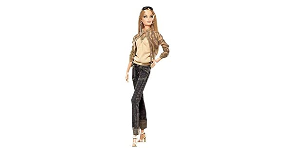 Amazon.com: Mattel muñeca de Barbie Rosa Etiqueta Collector ...