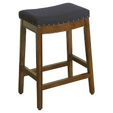 HomePop Blake Backless Counter Barstools, 24-inch, Blue