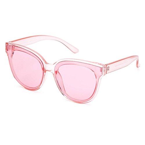 Vintage Cat Eye Women Glasses Oversized Round Fashion - Pink Sunglasses Retro