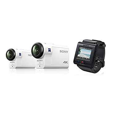 Sony HDR-AS300R/W HD Recording, Action Cam, Live View Remote Underwater Camcorder, White