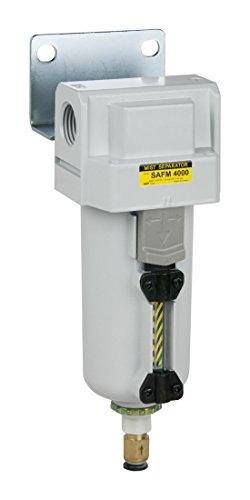 PneumaticPlus SAFM4000M-N06BD-MEP Inline Air Drying Coalescing Filter (Mist Separator) 0.3 Micron, 3/4'' NPT - Auto Drain, Metal Bowl by PneumaticPlus