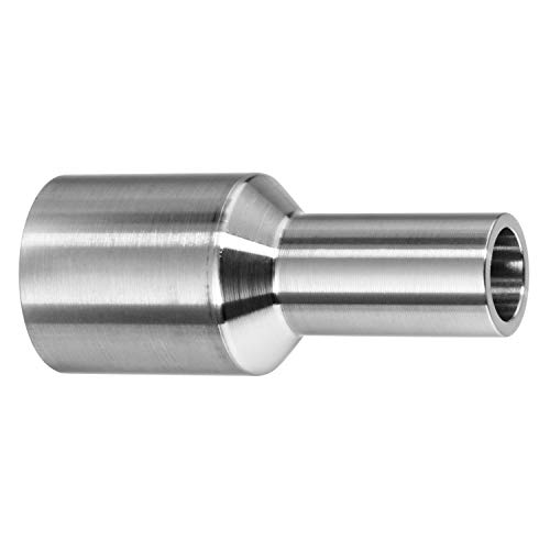 USA Sealing 304 Stainless Steel Polished Straight Reducer, Tube-to Tube for Butt Weld Fittings - for 1-1/2