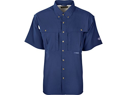 Drake Men's Flyweight Wingshooter's Shirt Short Sleeve Polyester Cobalt Medium