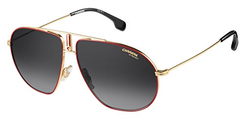 Carrera Men's Bounds Aviator Sunglasses, Red Gold/Dark Gray Gradient, 62 - Carrera Sunglasses By Safilo