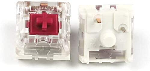 Switches Kailh para teclado mecanico (Pro Burgundy, 65 Pcs)