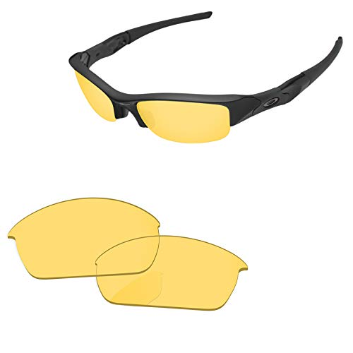 PapaViva Lenses Replacement for Oakley Flak Jacket Crystal Yellow