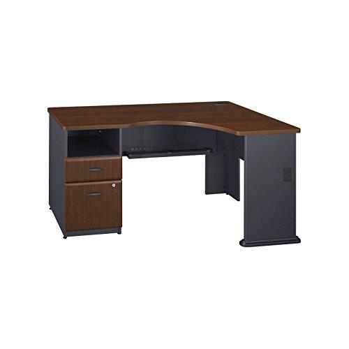 Series A Single 2 Drawer Pedestal Corner Desk in Hansen Cherry by Bush Business Furniture