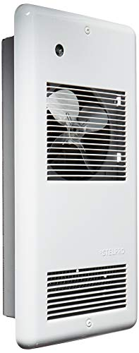 Stelpro ARWF1501TW Pulsair Ultra Quiet Electric Wall Heater with Thermostat, 750W to 1500W 120V, White