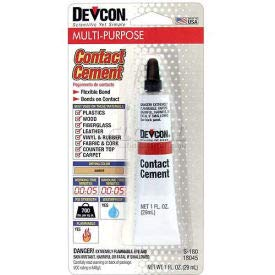 Devcon Contact Cement (S-180), 18045, 1 Oz. Tube (Pack of 20)