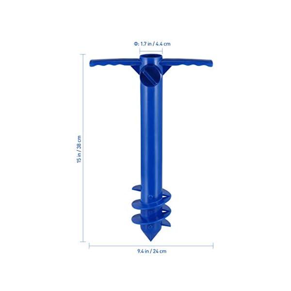 Yardwe Picchetto di Supporto per ombrellone Mare Spiaggia in plastica Porta ombrellone da Spiaggia per resistere a Forti… 3 spesavip