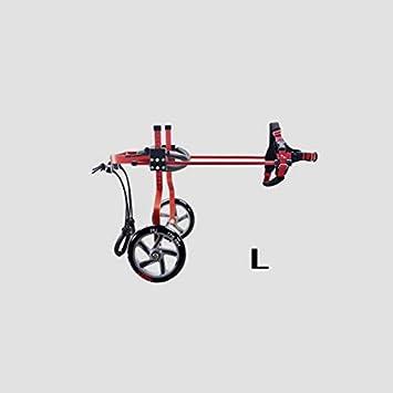GWM Silla de Ruedas Ajustable para discapacitados, Silla de Ruedas para Perros y Gatos Traseros con Movilidad Reducida, colorante Rojo (Tamaño : L): ...