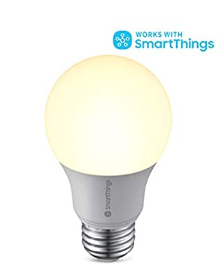 Samsung SmartThings Dimmable Smart LED Light Bulb (GP-LBU019BBAWU) with Voice Control, Works with Alexa, Google Assistant, and Bixby - White