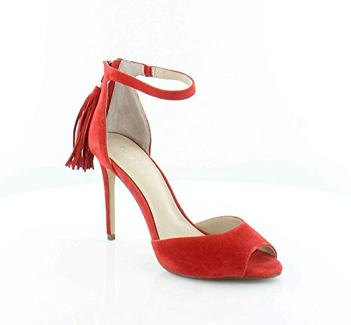 botkier Womens Anna Leather Peep Toe Special Occasion Ankle, Poppy, Size 8.5