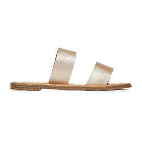 - Rohb by Joyce Azria Casablanca Sandal (Gold PU Metallic Leather) Size 10.5