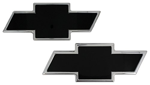 All Sales 96112KP Ami Chevy Bowtie Grille and Tailgate Emblem, Polished/Black (Pack of 2)