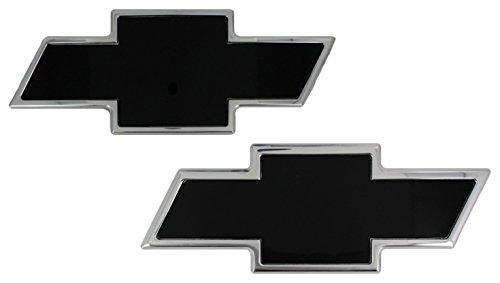 AMI 96112KP Chevy Bowtie Grille & Tailgate Emblem - Polished/Black Powder coat, 2 Pack