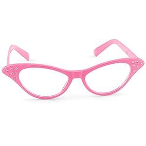 Hip Hop 50s Shop Kids Cat Eye Glasses (Child/Youth, Hot Pink)
