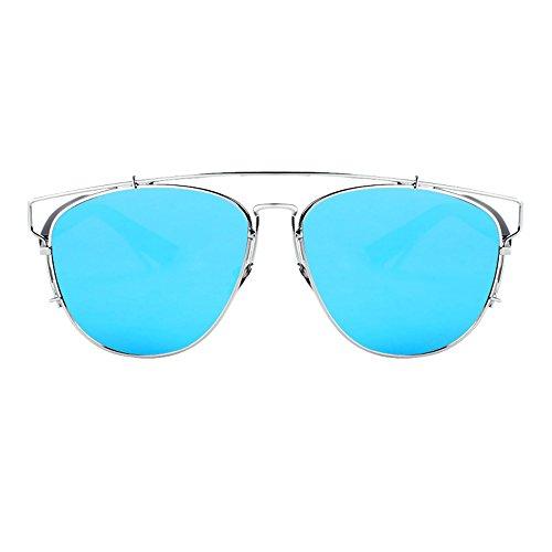 Sol Completo LVZAIXI Aviador Color Negros de Hombre Sunglasses de con Bolsa Azul Lentes Azul para Unisex para Gafas de Cordón Mujeres tnpxwqT